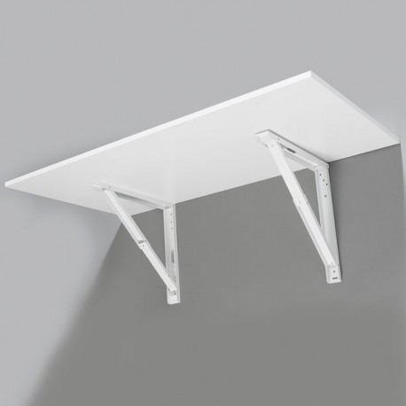 Support de table repliable blanc