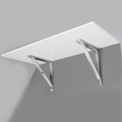 Support de table repliable gris