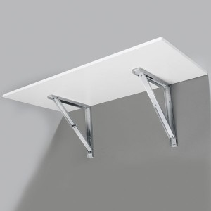 support de table rabattable blanc noir gris ou inox. Black Bedroom Furniture Sets. Home Design Ideas