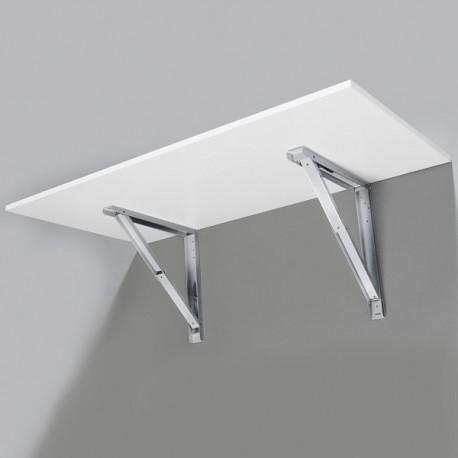 Support de table repliable gris