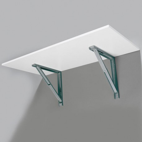 Support de table repliable look inox
