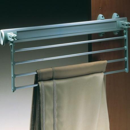 Porte pantalons coulissant avec système pivotant