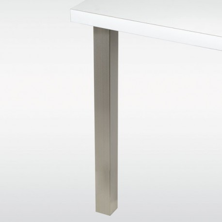 Pied de table carr 60 mm hauteur 710 mm - Pied de table en inox ...
