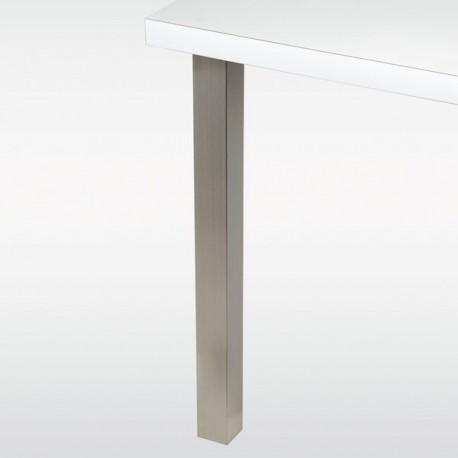 Pied de table carré 60 mm - hauteur 710 mm