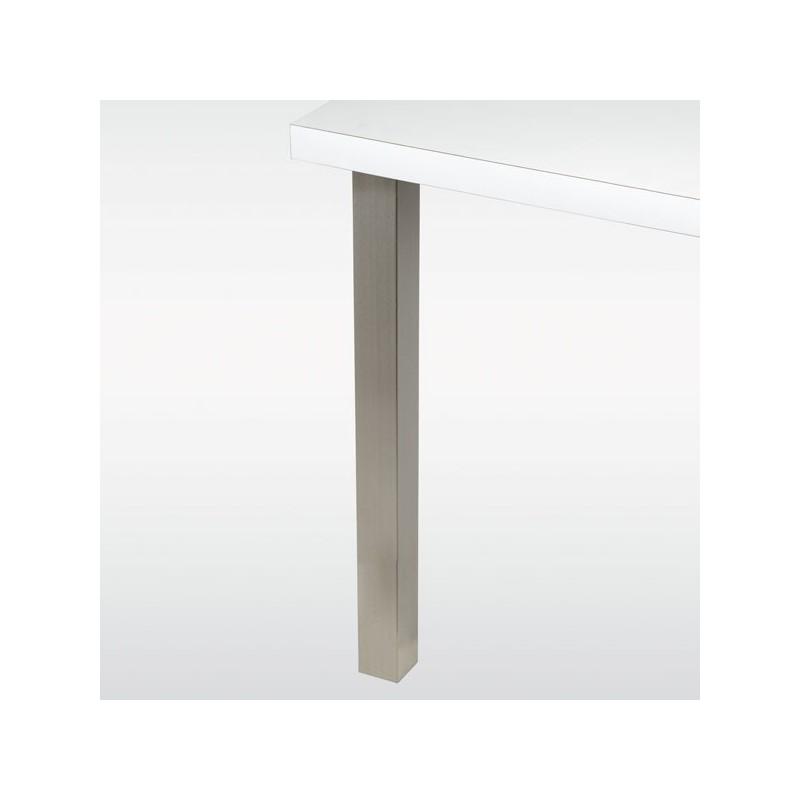Pied de table carr 60 mm hauteur 710 mm - Pied de table hauteur 90 ...