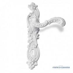 Poignée de porte Rococo Pop blanc