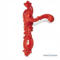 Poignée de porte Rococo pop red