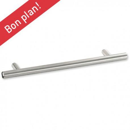 Poignée de cuisine forme bâton look inox diamètre 12 mm