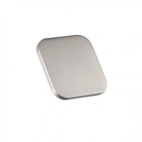 Bouton de meuble look inox carré languette