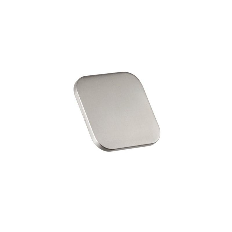 Bouton de meuble look inox carr languette for Panneaux muraux inox