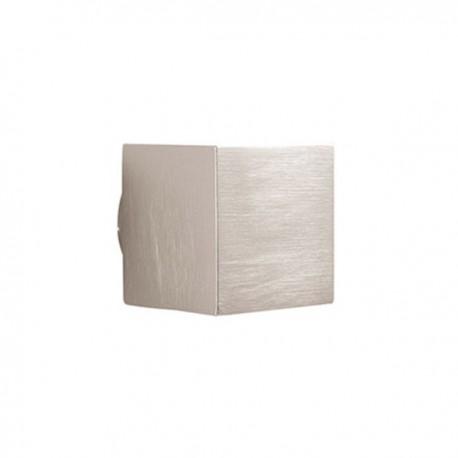 Bouton de meuble look inox cube