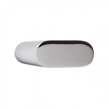 Bouton de meuble chromé oblong
