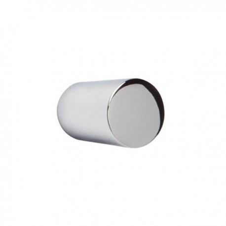 Bouton de meuble chromé mini cylindre