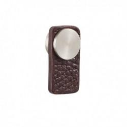 Bouton de meuble cuir languette