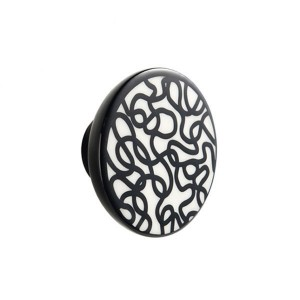 Bouton de meuble porcelaine scribble