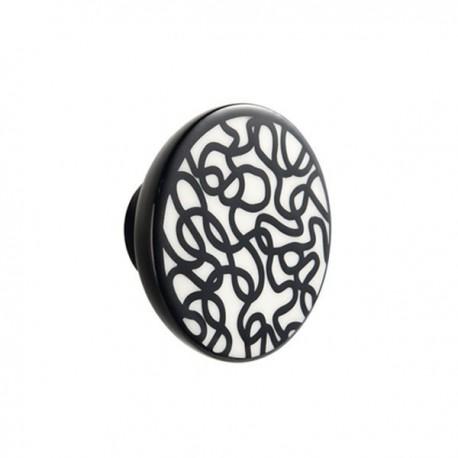 Bouton de meuble porcelaine scribble