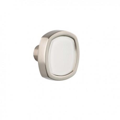 Bouton de meuble fantaisie Quattro blanc