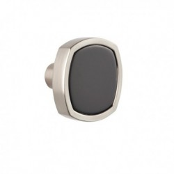 Bouton de meuble fantaisie acrylique QUATTRO noir