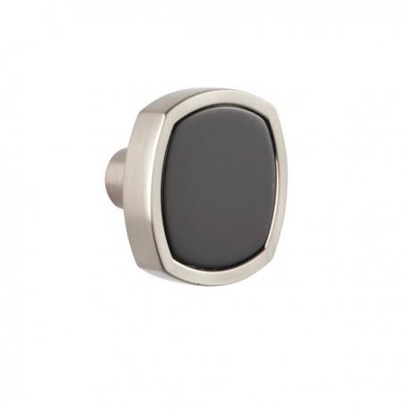 Bouton de meuble Quattro noir