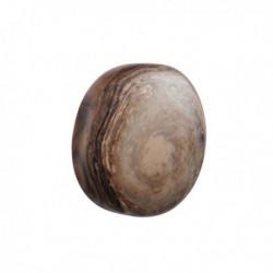 Bouton de meuble fantaisie galet marron foncé