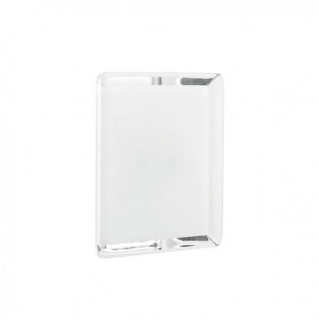 Bouton de meuble pyramidale blanc
