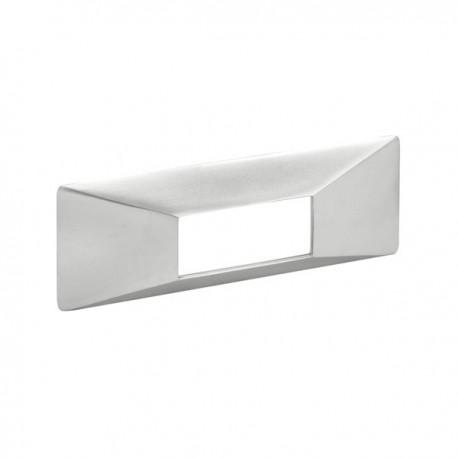 Poignée de meuble look aluminium Inlay