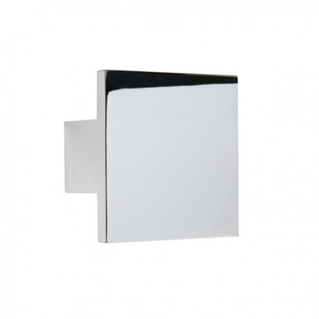 Bouton de meuble carré chromé QUADRO
