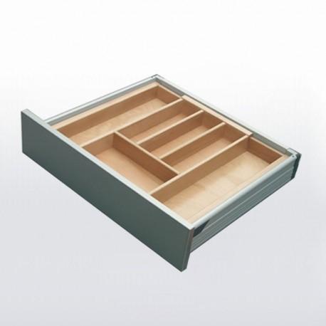 Range-couverts bois adaptable pour tiroir de 400 à 600 mm