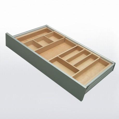 Range-couverts bois adaptable pour tiroir de 600 à 900 mm