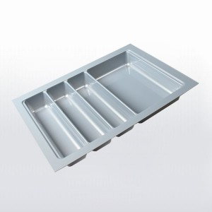 Range-couverts gris pour tiroir de 400 mm