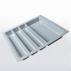 Range-couverts gris pour tiroir de 500 mm