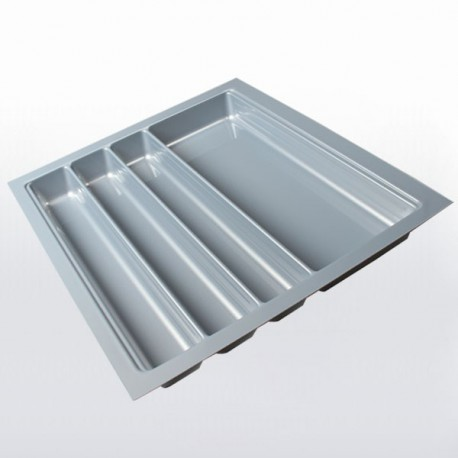 Range-couverts gris pour tiroir de 600 mm