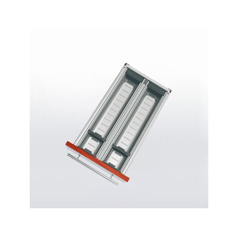Range couverts inox pour tiroir de 300 350 mm for Tiroir inox cuisine