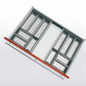Range-couverts inox pour tiroir de 800 mm