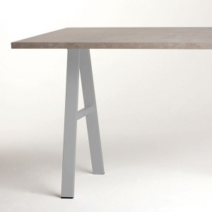 Pied de table pour péninsule forme A hauteur 710 ou 870 mm