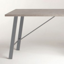 Pied de table incliné ATLANTA hauteur 710 ou 870 mm