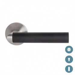 Poignée de porte LINK noir - inox