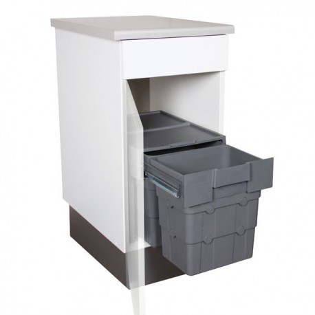 poubelle cuisine coulissante 2 bacs 32 litres. Black Bedroom Furniture Sets. Home Design Ideas