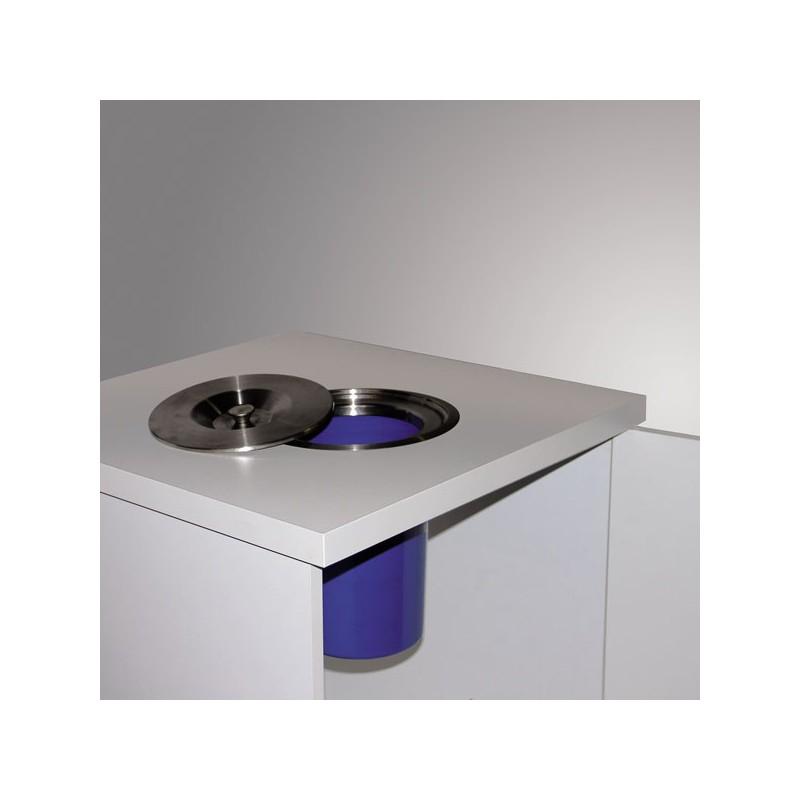 poubelle de plan de travail 8 litres inox bross. Black Bedroom Furniture Sets. Home Design Ideas