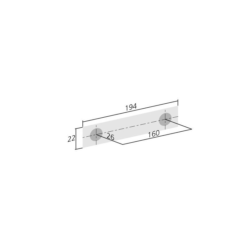 poign e de meuble cuisine look inox entraxe 160 ilovedetails. Black Bedroom Furniture Sets. Home Design Ideas