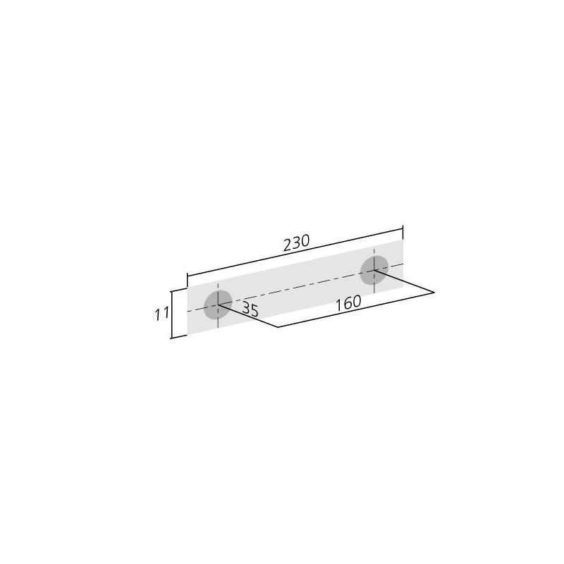 Poign e de meuble look aluminium design - Poignee de meuble design ...