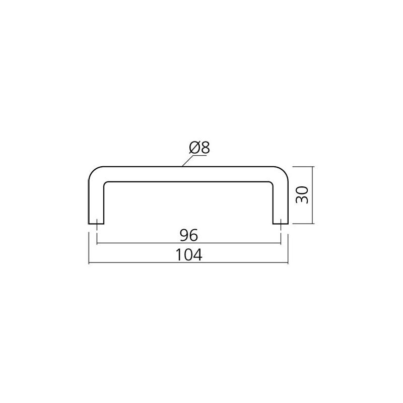 poign e de meuble alu noir ou blanc forme fil filea diam tre 10 mm entraxe 96 mm sur www. Black Bedroom Furniture Sets. Home Design Ideas