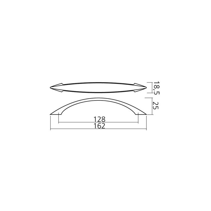Poign e look inox design - Poignee de meuble design ...