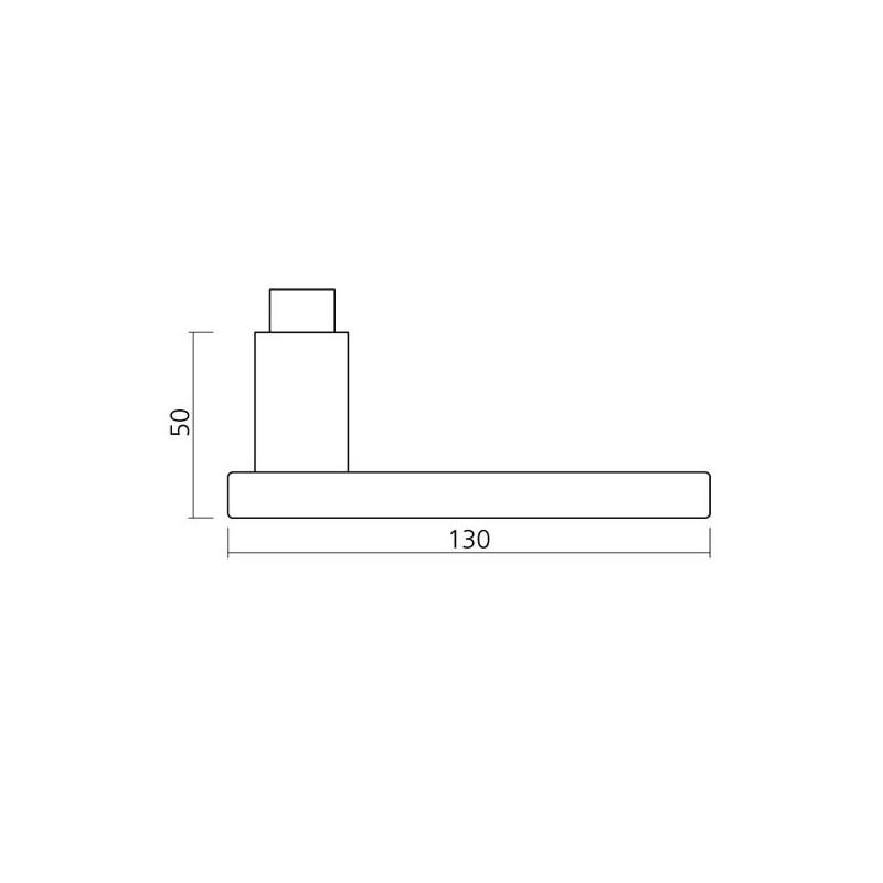 poign e sur rosace aluminium mod le 1003. Black Bedroom Furniture Sets. Home Design Ideas