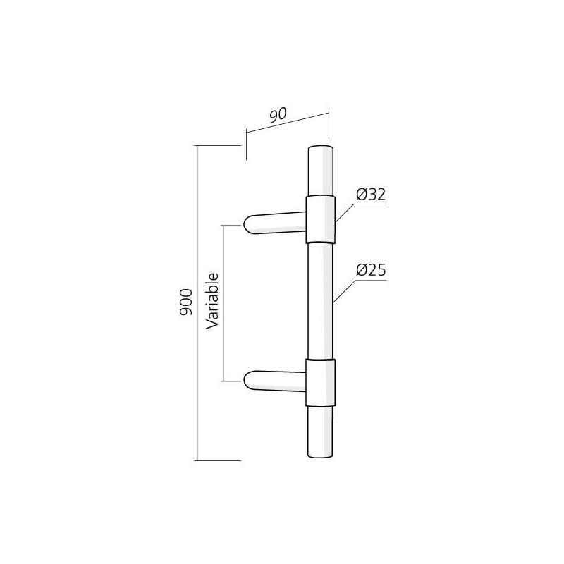 Poign e de porte d 39 entr e entraxe variable chez ilovedetails - Poignee de porte d entree castorama ...