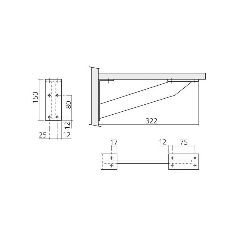 console de snack aluminium austin avec querre i love details. Black Bedroom Furniture Sets. Home Design Ideas