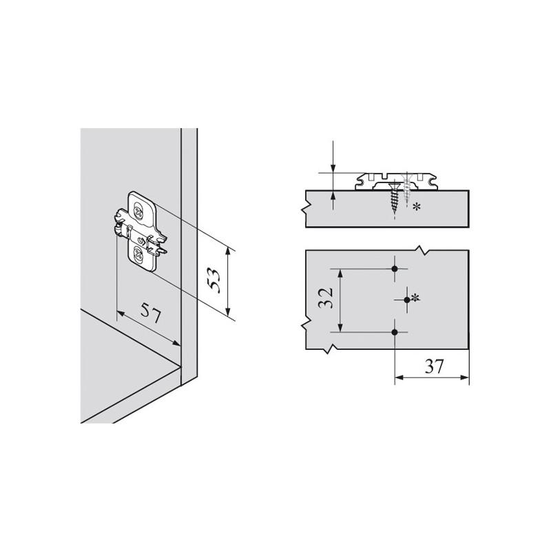 embase de charni re blum clip eurovis pr mont es. Black Bedroom Furniture Sets. Home Design Ideas