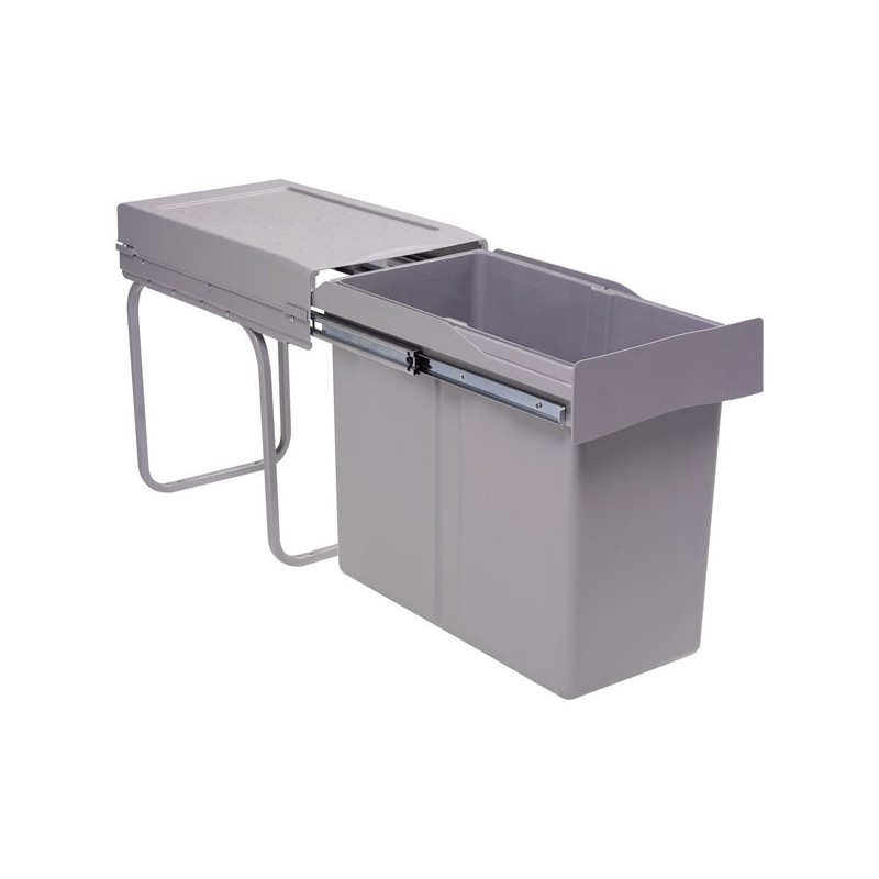 Poubelle de cuisine coulissante 1 bac 30 litres - Ikea poubelle sous evier ...