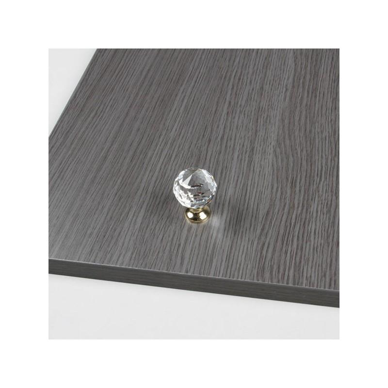 Bouton meuble cristal diament - Bouton de meuble en verre ...
