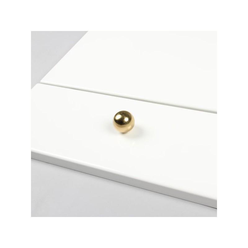 bouton de meuble forme boule dor globe. Black Bedroom Furniture Sets. Home Design Ideas
